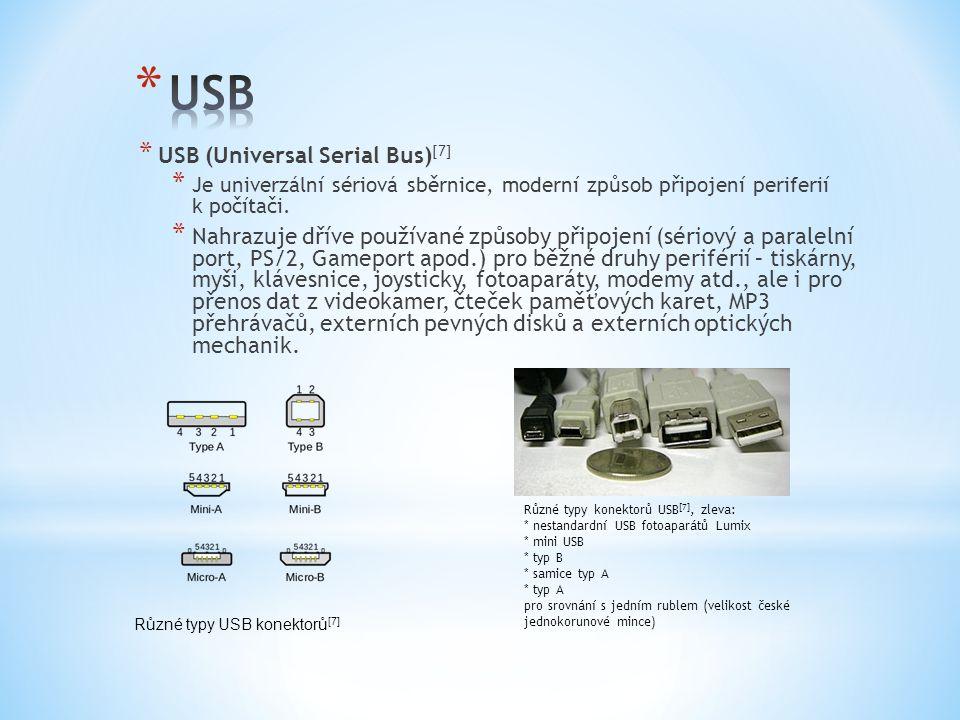 USB USB (Universal Serial Bus)[7]